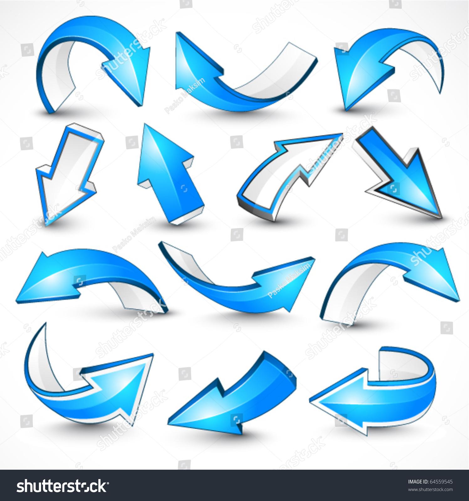 蓝色箭头.矢量图-物体,符号/标志-海洛创意(hellorf)