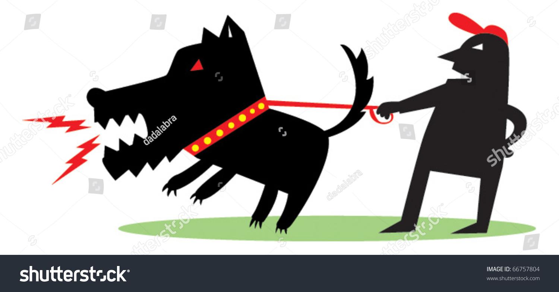 大狗卡通矢量图的小人物-动物/野生生物,插图/剪贴图