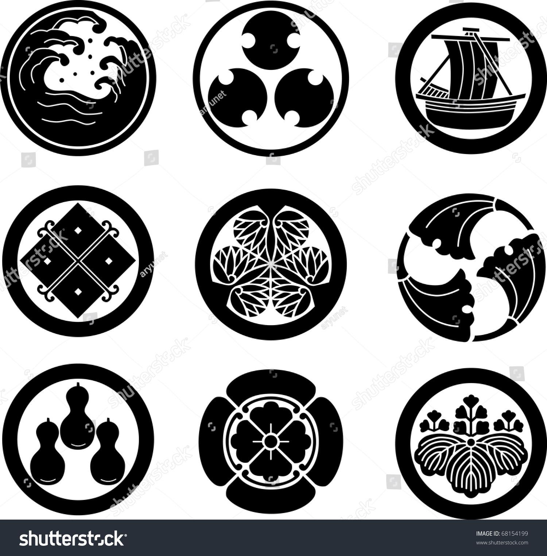 日本家徽(矢量)-插图/剪贴图,符号/标志-海洛创意()-.