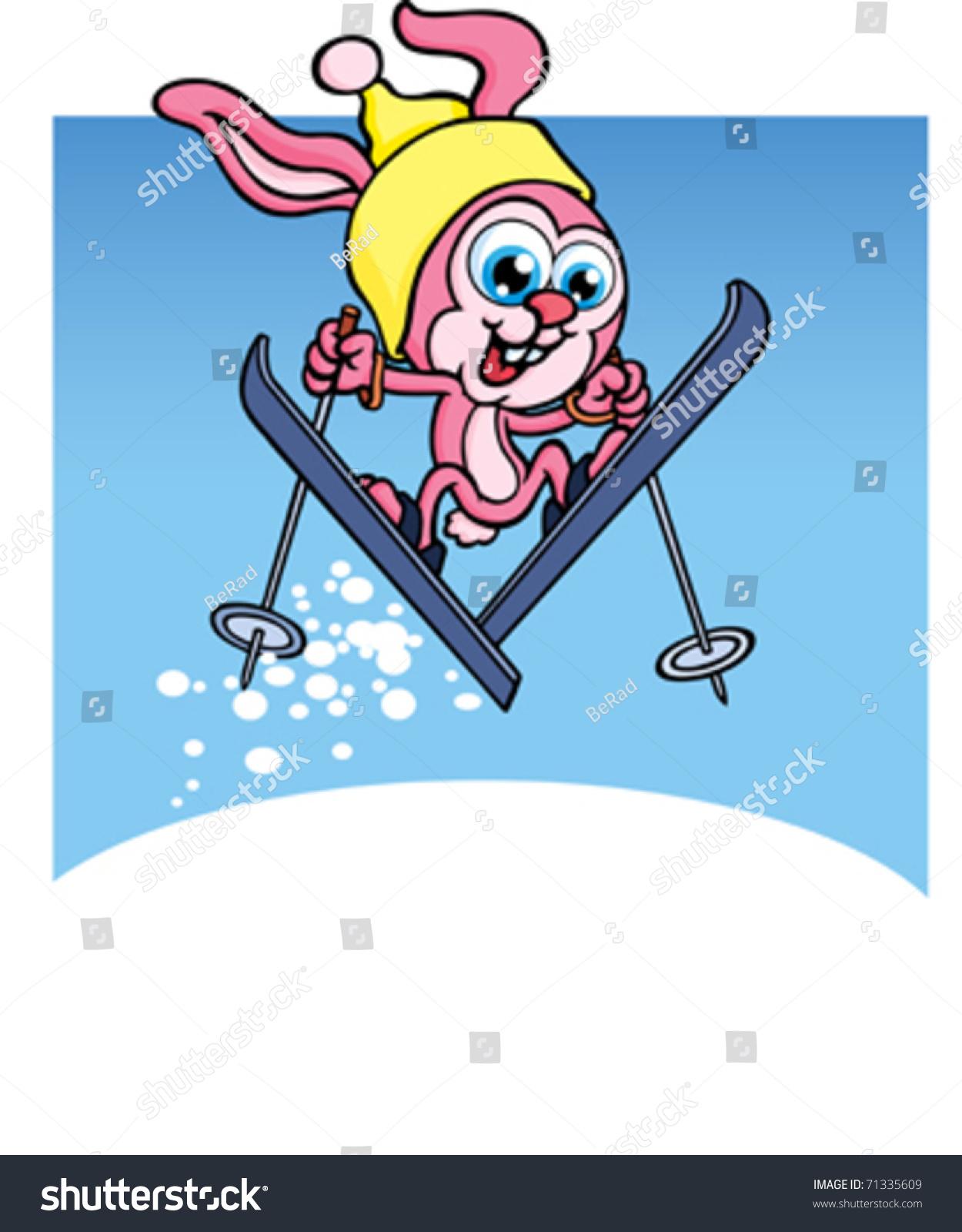 滑雪兔子-运动/娱乐活动,插图/剪贴图-海洛创意()-合.