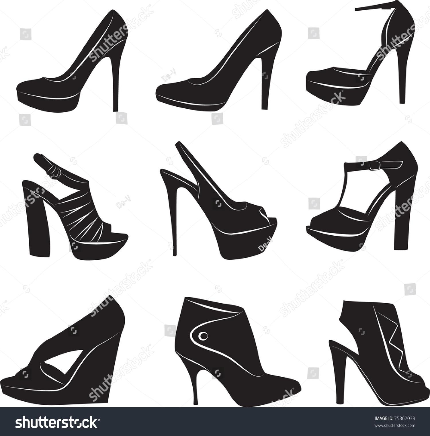 高跟 高跟鞋 女鞋 设计 矢量 矢量图 素材 鞋 鞋子 1500_1521