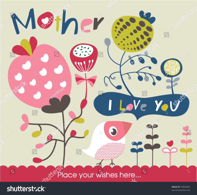 母亲节贺卡-假期,插图/剪贴图-海洛创意(hellorf)--.