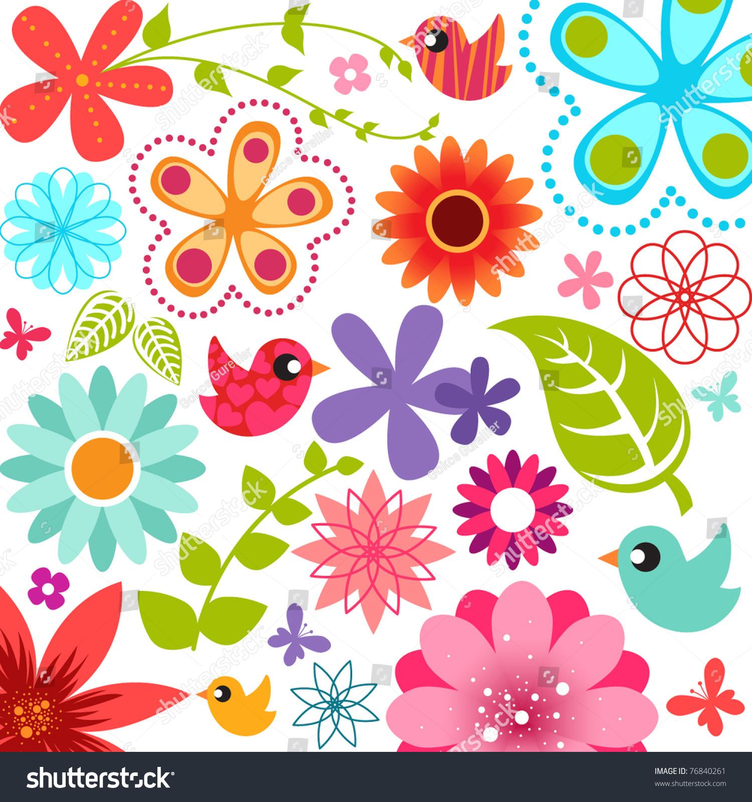 春天的花的背景-背景/素材