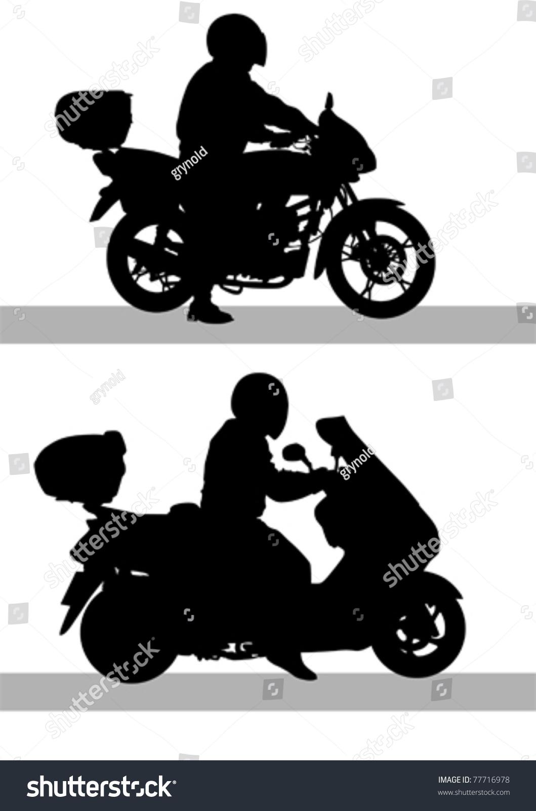 矢量图摩托车道路-运动/娱乐活动