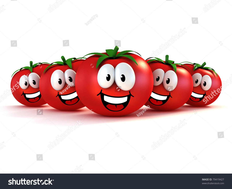 卡通番茄手绘图