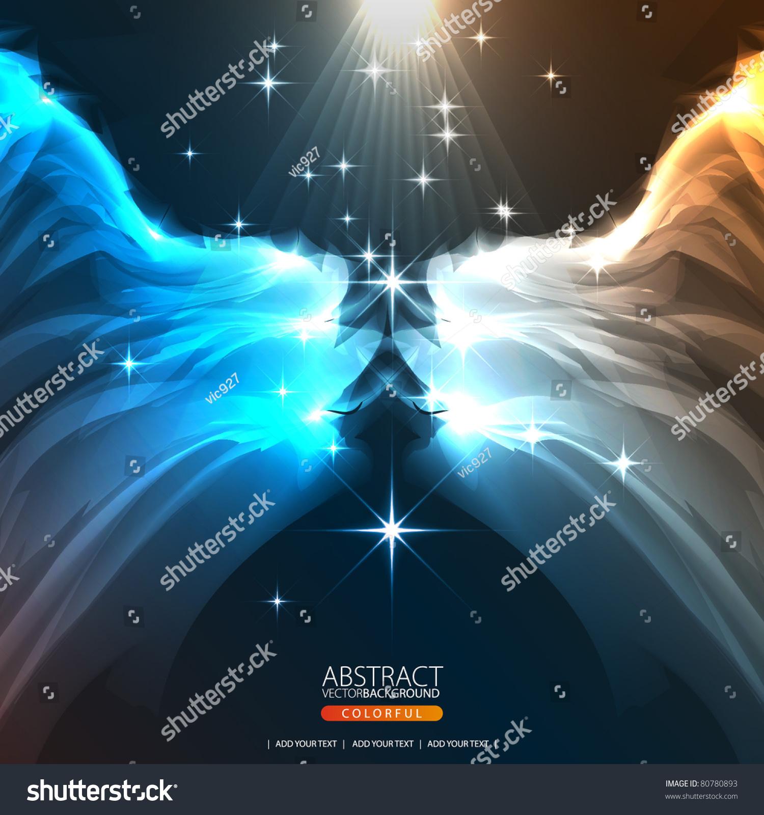 长着翅膀的抽象背景设计-背景/素材