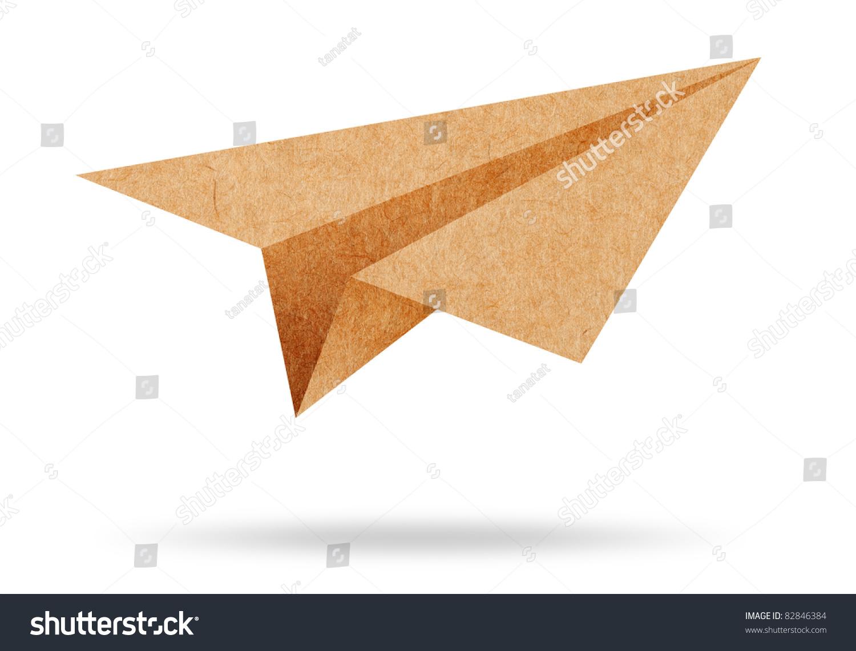 回收纸飞机在白色背景上-抽象