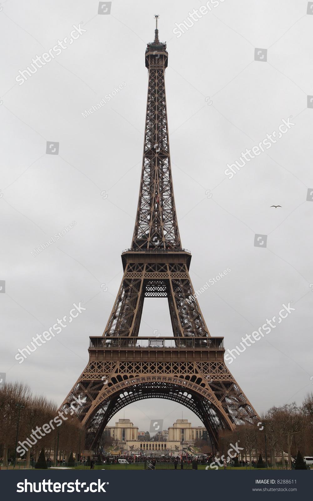 埃菲尔铁塔,巴黎,法国在冬天-建筑物/地标
