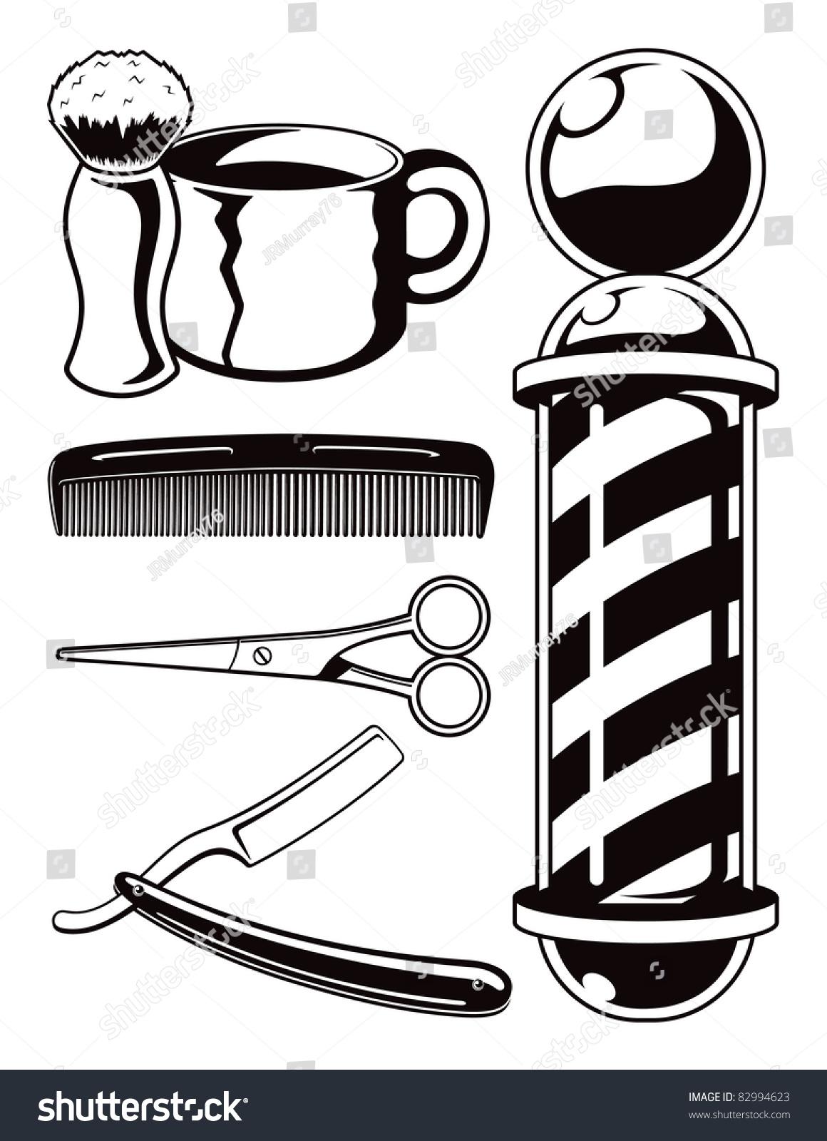 矢量动画理发店的工具