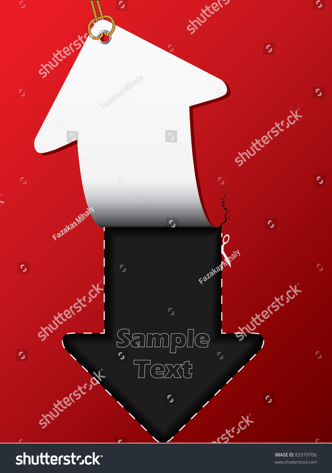 箭头标签宣传册设计用一根绳子-背景/素材,抽象-海洛