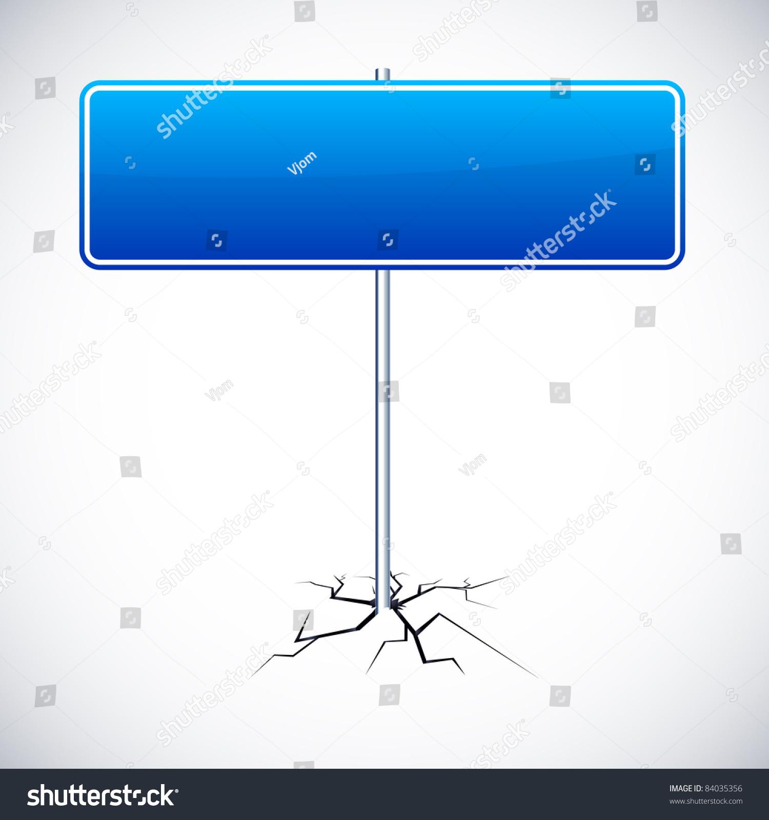 矢量插图的路标与蓝色为任何文本框架.-科技,符号/-()