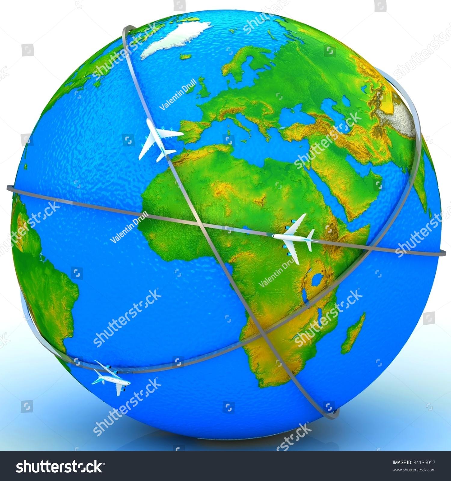 飞机的路线-商业/金融,抽象-海洛创意(hellorf)-中国