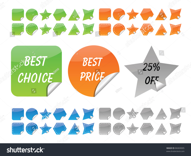 请登录   原标题 vector set of glossy stickers 版权:klimo 图片id