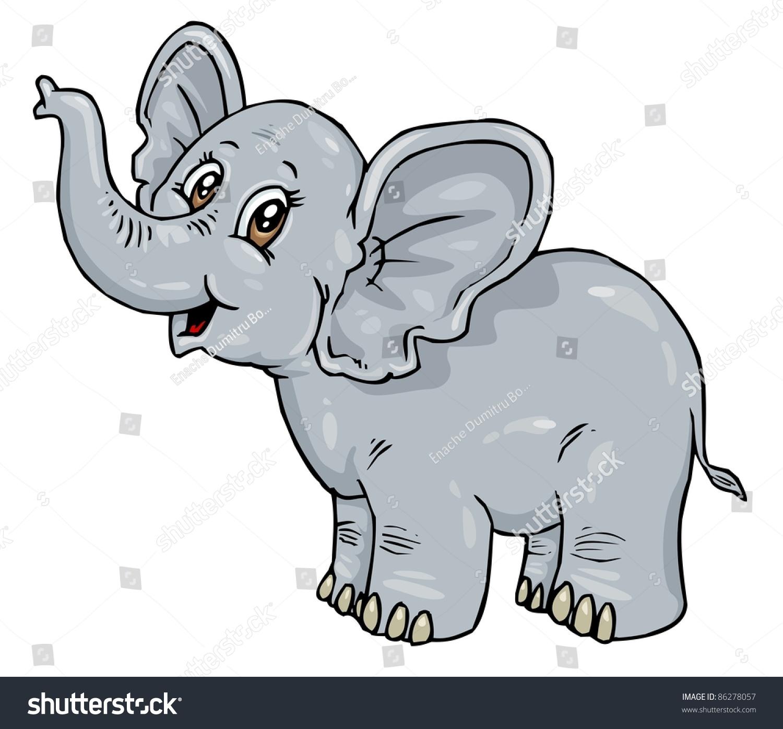 婴儿大象卡通-动物/野生生物,自然-海洛创意(hellorf)