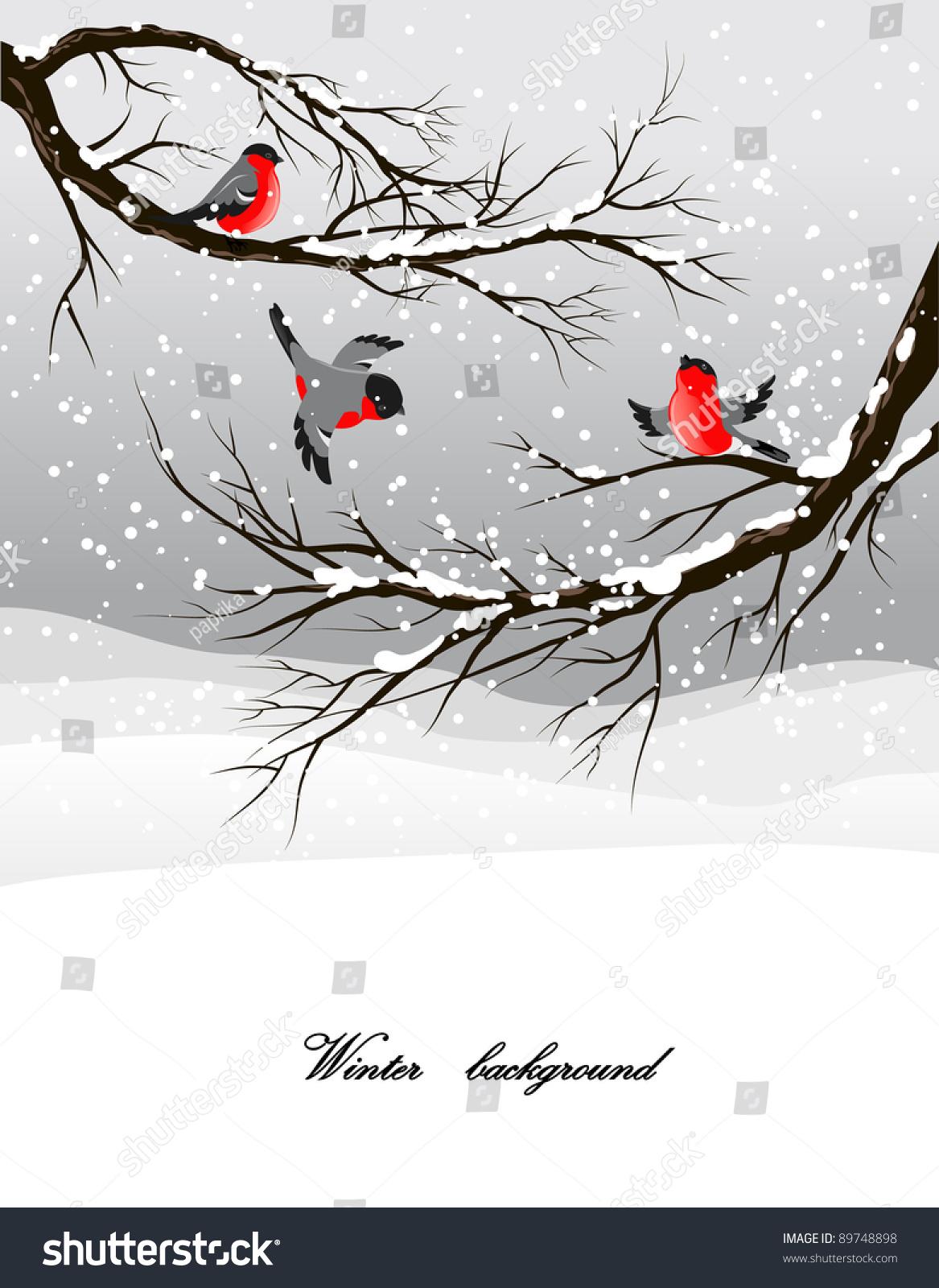 冬天的背景与红腹灰雀-公园/户外,自然-海洛创意()-合