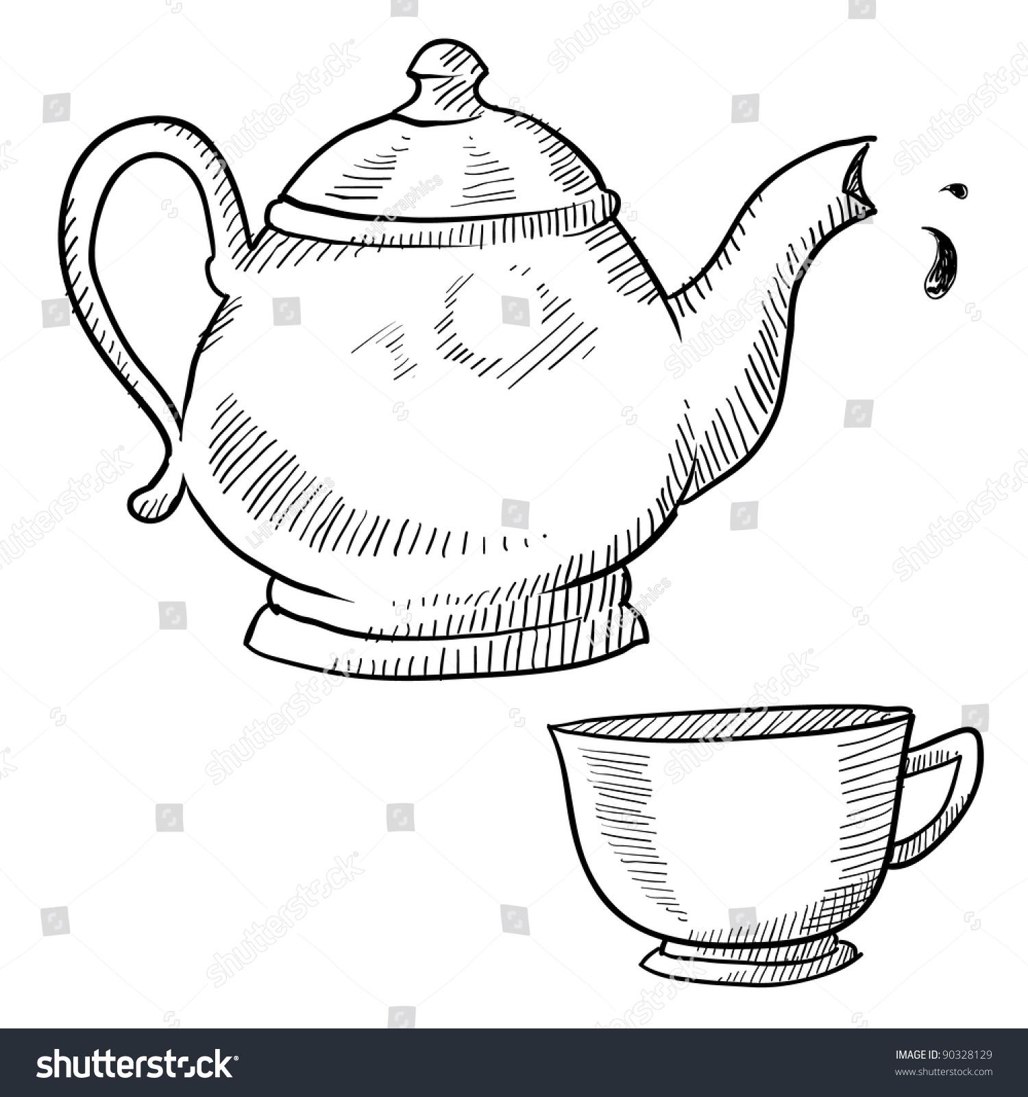 普茶具设计手绘图