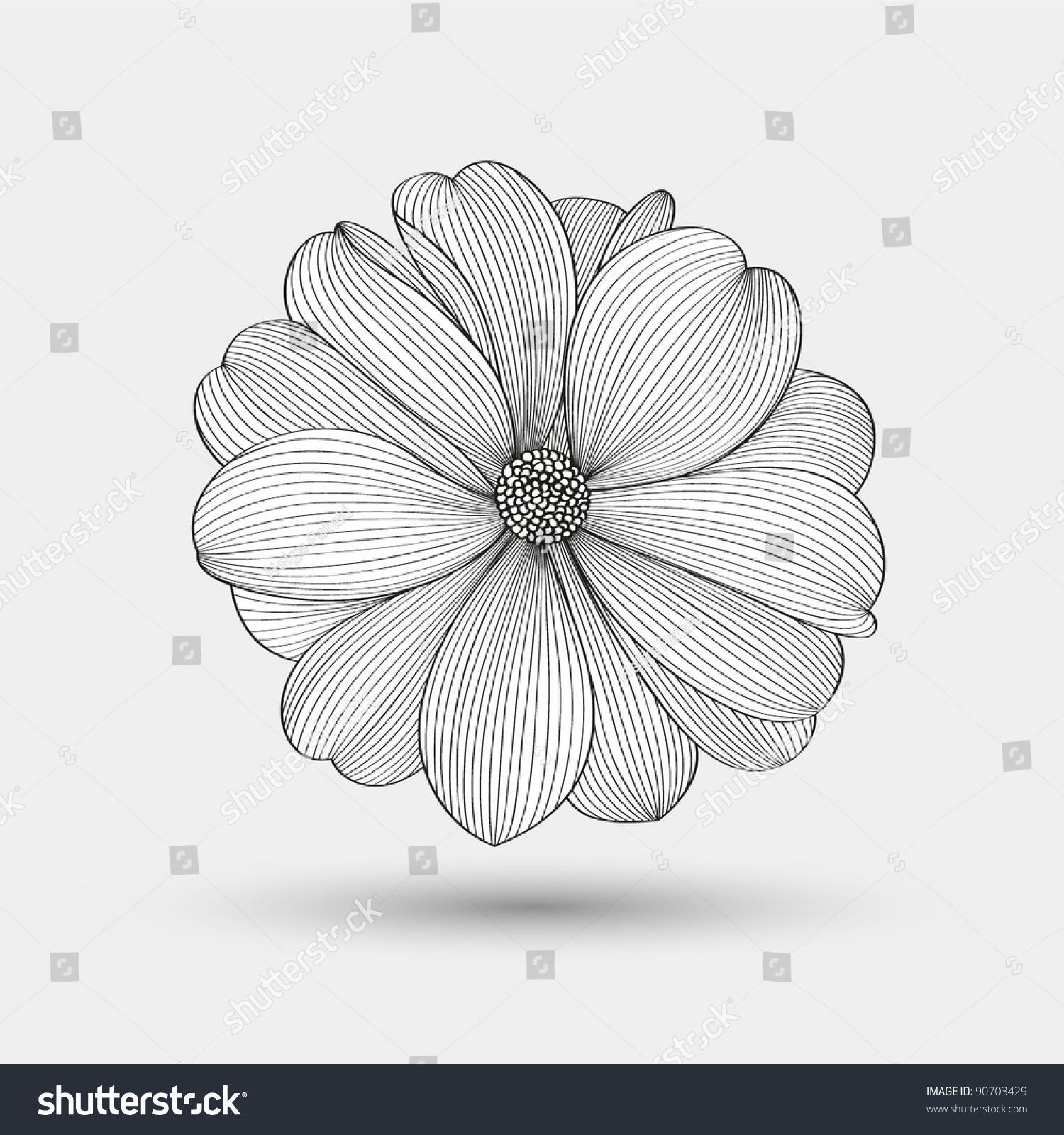 微信手绘黑白花