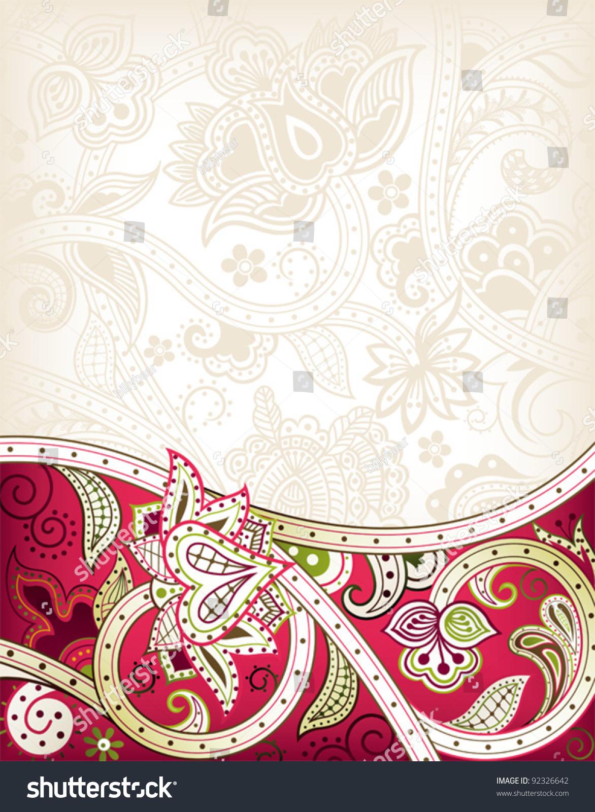 抽象花纹背景-背景/素材