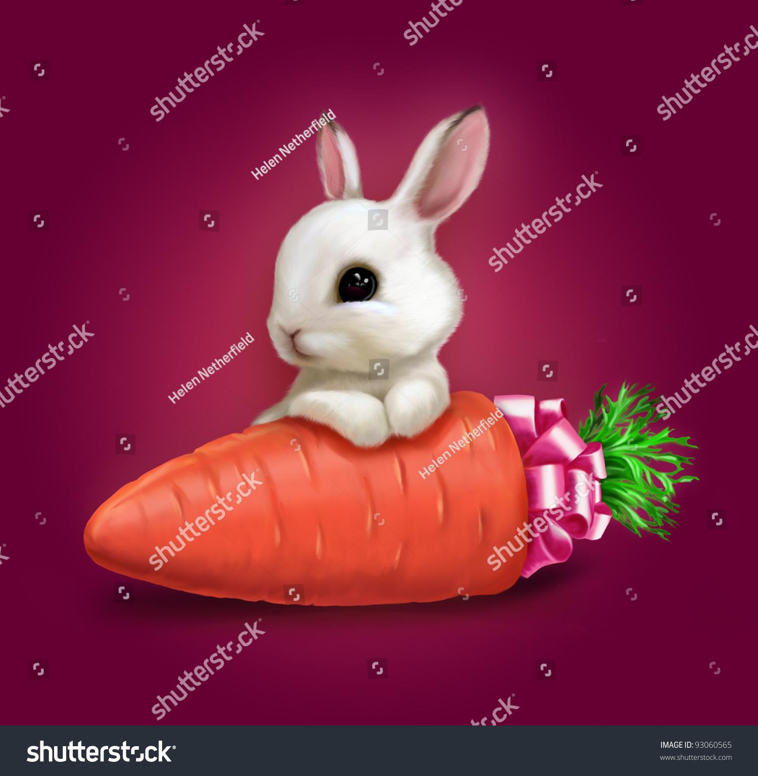 可爱的兔子和胡萝卜-假期
