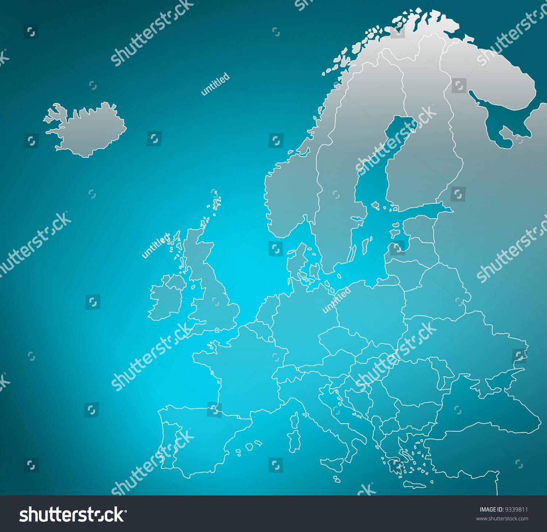 欧洲地图-背景/素材,插图/剪贴图-海洛创意(hellorf)