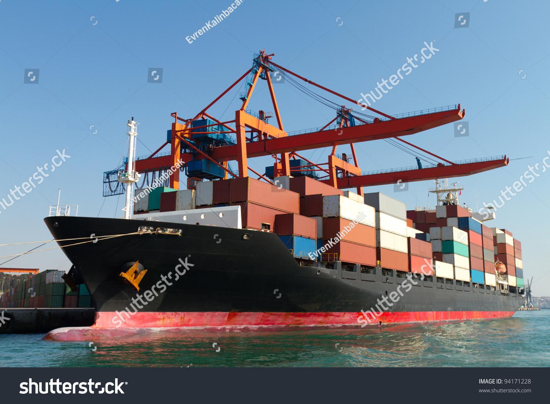 集装箱船-交通运输,交通运输-海洛创意(hellorf)-中国