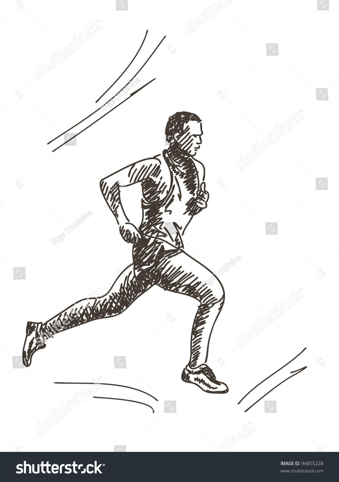 手绘跑步-运动/娱乐活动,人物-海洛创意(hellorf)--.
