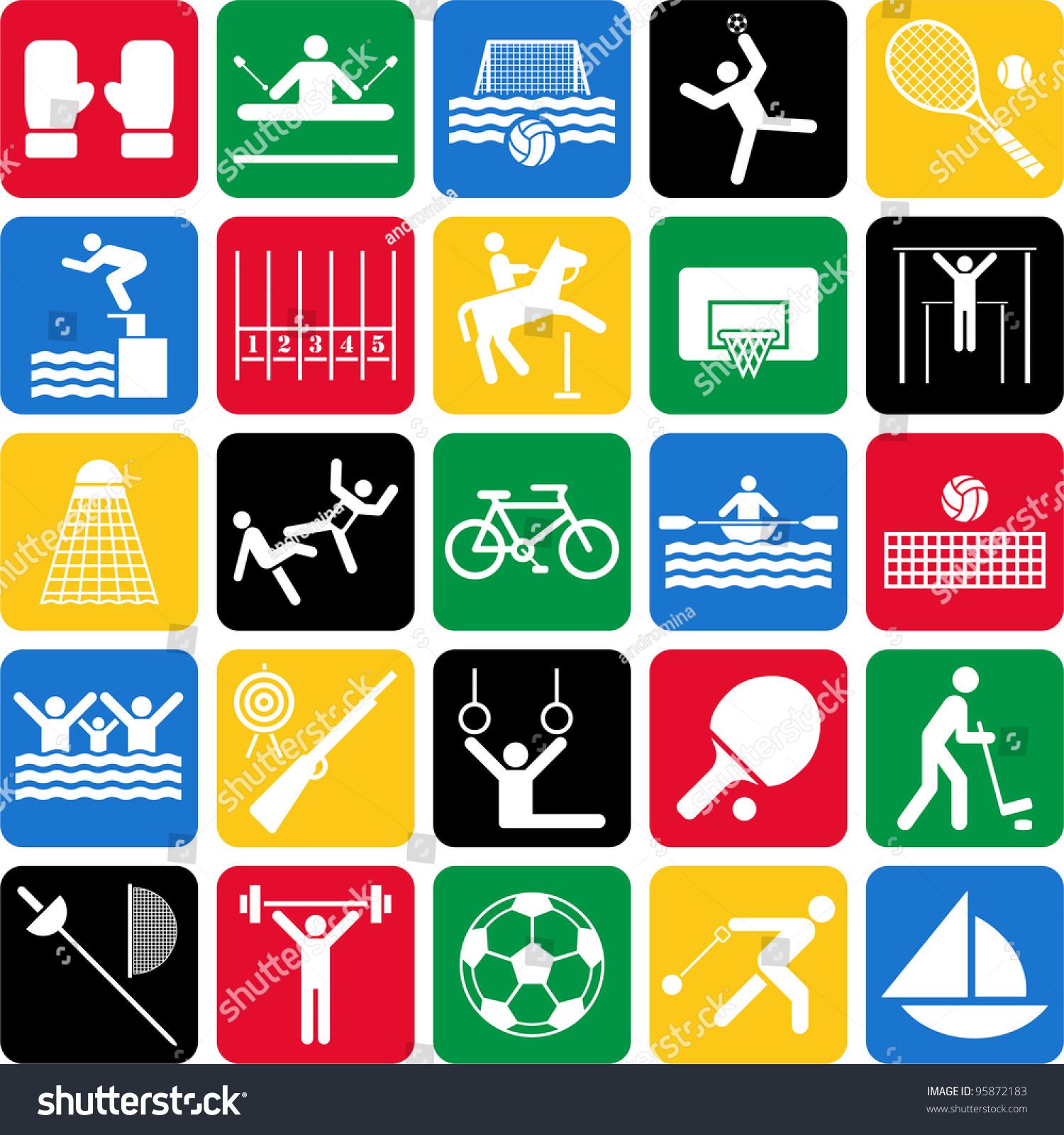 奥运会体育图标-运动/娱乐活动
